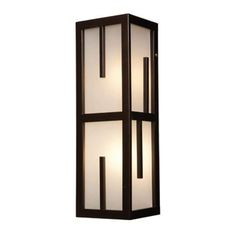 "Access Lighting 20378MG 2 Light 6"" Wide Outdoor Wall Sconce from the Zen Collect Bronze / Frosted Glass Outdoor Lighting Wall Sconces Outdoor Wall"