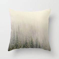 Mountain Haze Throw Pillow