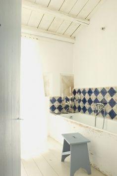 Bathroom in a Sicilian country house