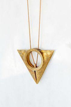 Metalepsis A Unfinished Pendant Necklace   $130