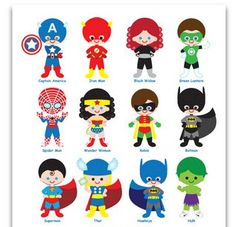"Super Hero Birthday Invite Invitation Card 5"" x 7"" You Print Custom"
