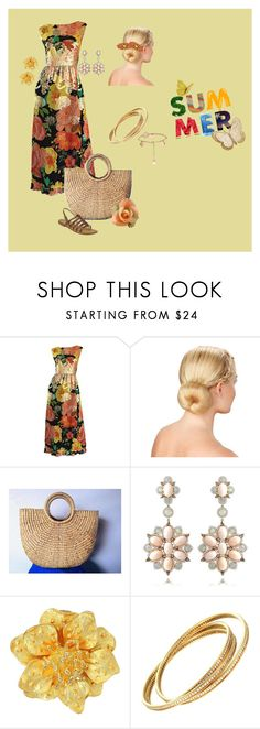 """""""Summer"""" by mom2017 ❤ liked on Polyvore featuring Les Tropéziennes par M Belarbi, Sutra Jewels, Kenneth Jay Lane and Cartier"""