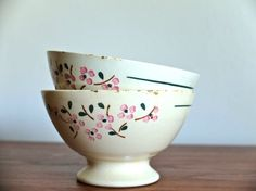 2 antique french Bowls in earthenware Lunéville by lestrictmaximum, €30.00