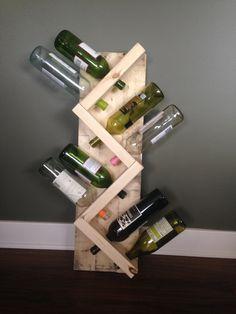 Wine Rack, reclaimed wood wine rack, pallet wood wine rack, wine storage, kitchen storage, unique wine rack, zig-zay wine rack by CharmingCustomDesign on Etsy https://www.etsy.com/listing/474158083/wine-rack-reclaimed-wood-wine-rack