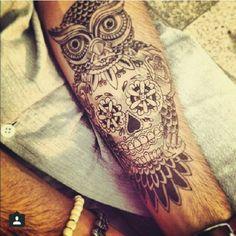 #owlskull tattoo
