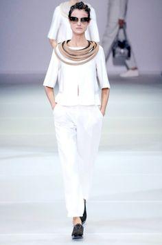 Giorgio Armani SS 2015 – Photo: By imaxtree.com for Camera Nazionale della Moda Italiana #fashion
