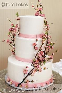 cakes on pinterest wedding cake purple branches and wedding cakes