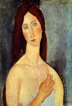 'jeanne with bare shoulders' by amedeo modigliani (1919)