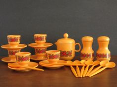 Vintage Emsa West Germany Breakfast Set aty Eight Mile Vintage on Etsy