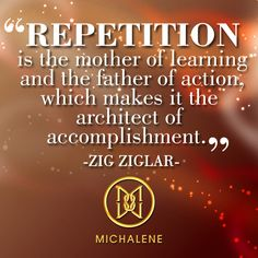 Sometimes repetition holds the key to success. #quote #inspirational #life #Melges