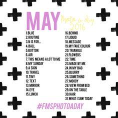 May 2016 Photo A Day Challenge - Fat Mum Slim