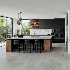 Luxury Kitchen Design, Kitchen Room Design, Kitchen Cabinet Design, Home Decor Kitchen, Kitchen Living, Interior Design Kitchen, New Kitchen, Home Kitchens, Modern Kitchens
