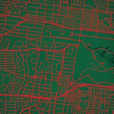Washington University in St. Louis   City Prints Map Art