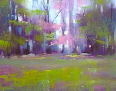 Karen Margulis.  Pastel.  Spring Landscape
