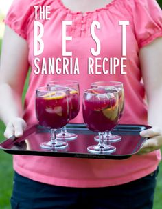 The BEST sangria recipe. Seriously delicious!