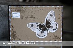 Handmade Butterfly Card using Stampin' Up! supplies - Stampin' Up! Demonstrator Michelle Last