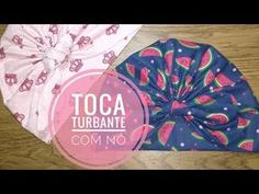 Turbante fechado (passo a passo) - YouTube Clay Crafts, Diy And Crafts, Scrub Hat Patterns, Headband Tutorial, Crochet Beanie Hat, Scrub Hats, Baby Sewing, Diy Party, Baby Headbands
