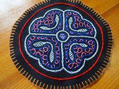Estilo Shipibo parche redondo (bordado a mano) de Dove's Creations por DaWanda.com