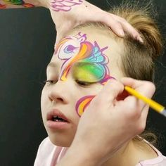 Dragon Face Painting, Face Painting Unicorn, Unicorn Face, Disney Face Painting, Face Painting For Boys, Halloween Makeup For Kids, Kids Makeup, Face Painting Tutorials, Face Painting Designs