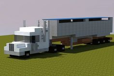 Semi-Truck   Realistic Minecraft Project.     You'll never know how hard it is to build vehicles in Minecraft... I've tried... and failed many, many times.