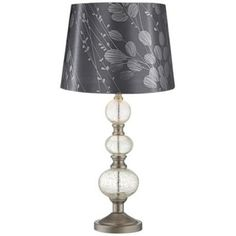 Silver Leaves Crackle Spheres Glass Table Lamp - $79.97
