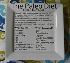 Paleo Diet if you keep the animal protein to about 10-15% of the diet then I totally agree with this.