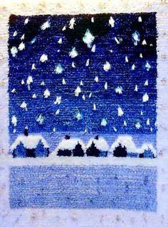 vuorelman ryijyt - Google-haku Japanese Stamp, Rya Rug, Tapestry Weaving, Ribbon Embroidery, Rug Hooking, Winter Time, Christmas Art, Cross Stitching, Hand Sewing