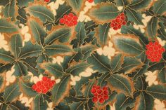 "Hoffman ""Vermont Lodge"" Series Large Holly Quilt/Craft Fabric 100% Cotton 1/2 yd by QuiltFabricsPlus on Etsy"