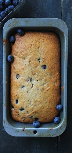 Blueberry Banana Bread is the perfect breakfast snack to serve with your morning coffee or tea. http://diethood.com/blueberry-banana-bread/