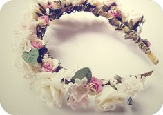 DIY floral headband, the cutest thing ever (: