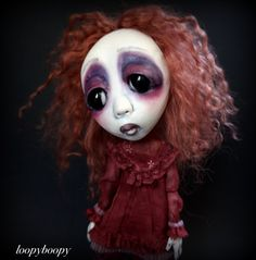 Loopy Southern Gothic Art Doll Victorian Dark Goth by loopyboopy