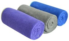 Multi-purpose Microfiber Fast Drying Travel Gym Towels 3-pack 16 Inch X 32 Inch. Size: 16 Inch X 32 Inch Pack of 3. Made of microfiber,Lightweight and compact than ordinary towel.Unique terry texture design can absorb more water than flate towel. Dries 3 times faster than traditional towels,The best way to absort water is pat your body not rub. Ideal for outdoor,sports, travel holiday.This size can be used to wipe sweat when at the gym. Durable, up to 500 times washing,Please wash it...