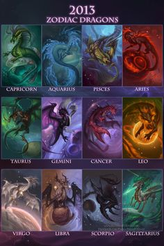 The lengendary zodiac dragons. No dragon has ever seen them since the great dragon and Dark Stars war. Rumor has it, the Zodiac dragons keep the world stable. Rumor also has it, the Dragon Gods created the Zodiacs to protect the world. Anime Zodiac, Zodiac Art, Astrology Zodiac, Pisces, Zodiac Taurus, Zodiac Quotes, Astrology Numerology, Numerology Chart, 2018 Zodiac
