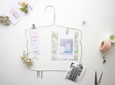 DiY How a hanger can became a Moodboard