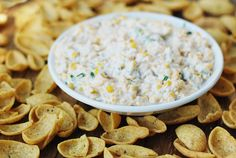 Cold Fiesta Corn Dip with Fritos Scoops
