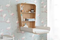 How to choose best changing table for baby Changing tables for your baby\'s nursery may not be the first thing on your list to purchase, but after the crib, it will be the most used furniture in the room. Wall Mounted Changing Table, Best Changing Table, Baby Changing Station, Folding Furniture, Furniture Design, Designer Baby, Nursery Furniture, Nursery Room, Changing Tables