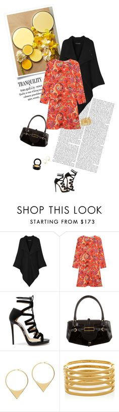"""""""mood1576"""" by du321 ❤ liked on Polyvore featuring Roland Mouret, Etro, Jimmy Choo, Jack Vartanian, Kenneth Jay Lane and MAC Cosmetics"""