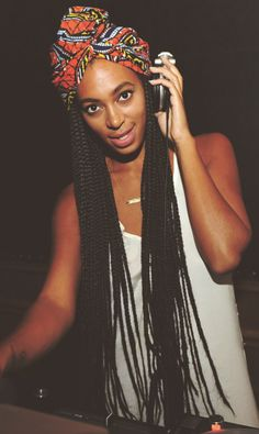 Solange Knowles braids range from box braids to cornrows to an african braided style with beads. The singer/songwriter looks great in the braided buns. Box Braids Hairstyles, My Hairstyle, Cool Hairstyles, Solange Knowles, Dreads, Curly Hair Styles, Natural Hair Styles, Long Box Braids, Box Braids Styling