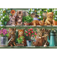 """Kitchen Cats""  -   #Cute #Jigsaw #Puzzles #Cats #kittens"