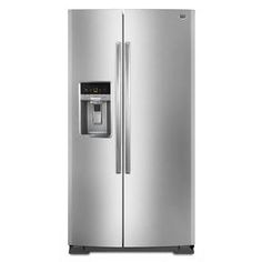 Maytag Stainless Steel Side-by-Side Refrigerator MSB27C2XAM with a 10-year limited parts compressor warranty 26 cu. ft.