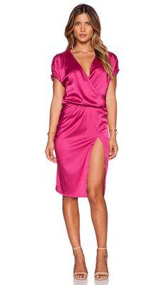 Scarlet Split Cocktail Dress - Pink