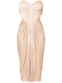 Maria Lucia Hohan Gathered Pleated Design Dress - Farfetch Pink Dress, Dress Up, Bodycon Dress, Ruched Dress, Dress Form, Strapless Dress, Simple Dresses, Nice Dresses, Denim Dresses
