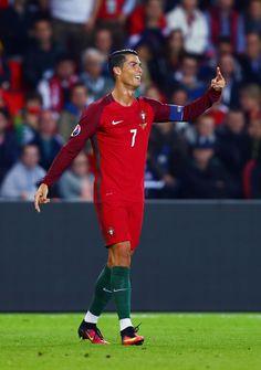 Cristiano Ronaldo Photos - Cristiano Ronaldo of Portugal reacts during the UEFA…