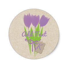Buy this Cute Add Text Happy Gardening Gardener Florist Classic Round Sticker