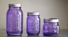 New color Purple Rain colored tinted mason jars by CamlieInc, $5.00