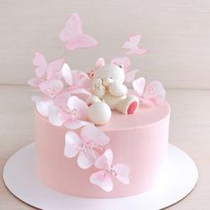 """We have collection of stunningly beautiful cake decorating to help inspire your baking passions and delight to the guest of honor. Take a look at the gallery board """"Cake Designs"""" Butterfly Birthday Cakes, Birthday Cakes For Teens, Baby Birthday Cakes, Butterfly Cakes, 16th Birthday, Butterflies, Cute Cakes, Pretty Cakes, Beautiful Cakes"""