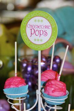 Bright, fun Cheesecake Pops!