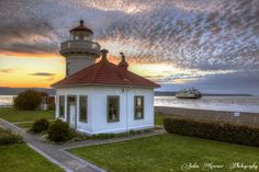 Lighthouse Park at sunset, Mukilteo WA-   Photo Credit- Justin Kraemer Photography  www.WashingtonStateDestinations.com