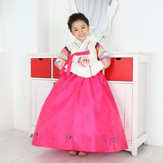 Ivory Hot pink Girl hanbok. Click this picture, go to ebay page :)