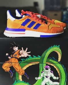 official photos 0a726 96611 Adidas Originals ZX 500 Dragon Ball Z Son Goku D97046 - IN HAND Dragonball  Z,